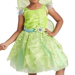 Disney Store Costumes - Disney Store TINKERBELL Girls Costume 6 7 8 Dress